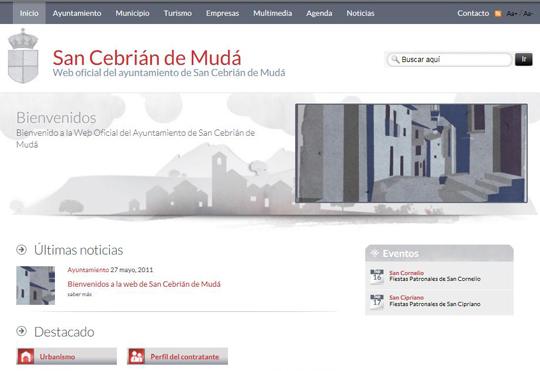 Bienvenidos a la web de San Cebrián de Mudá